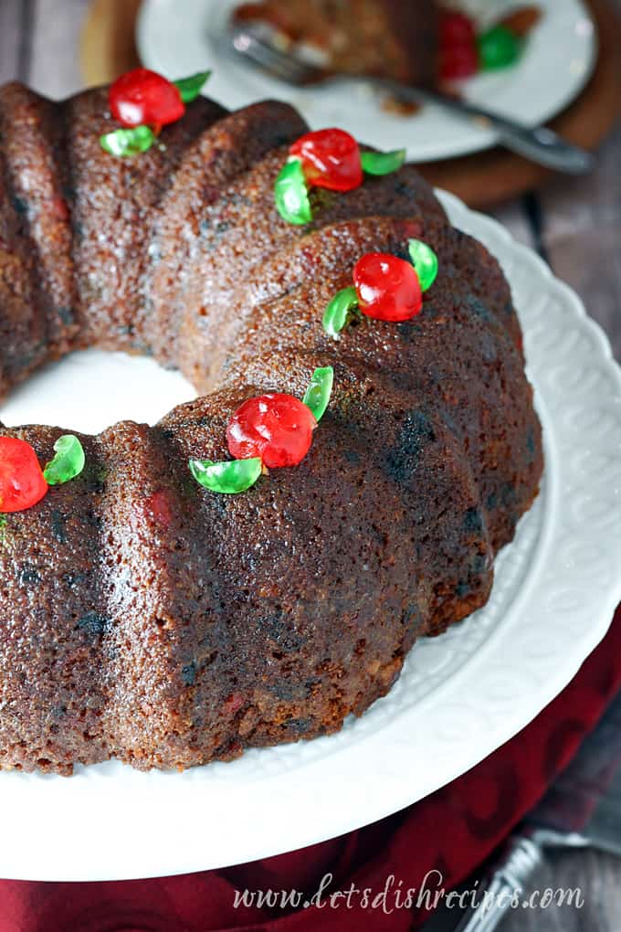 Shortcut Cake Mix Fruitcake