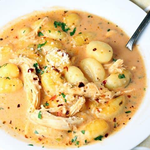 Creamy Tomato Chicken Gnocchi Soup