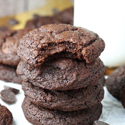 Dark Chocolate Fudge Brownie Cookies