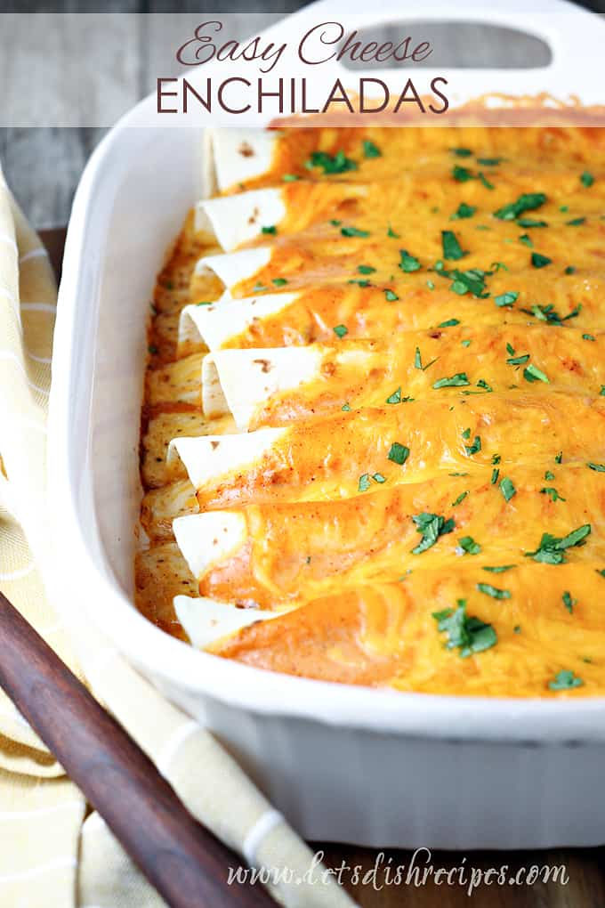 Easy Cheese Enchiladas