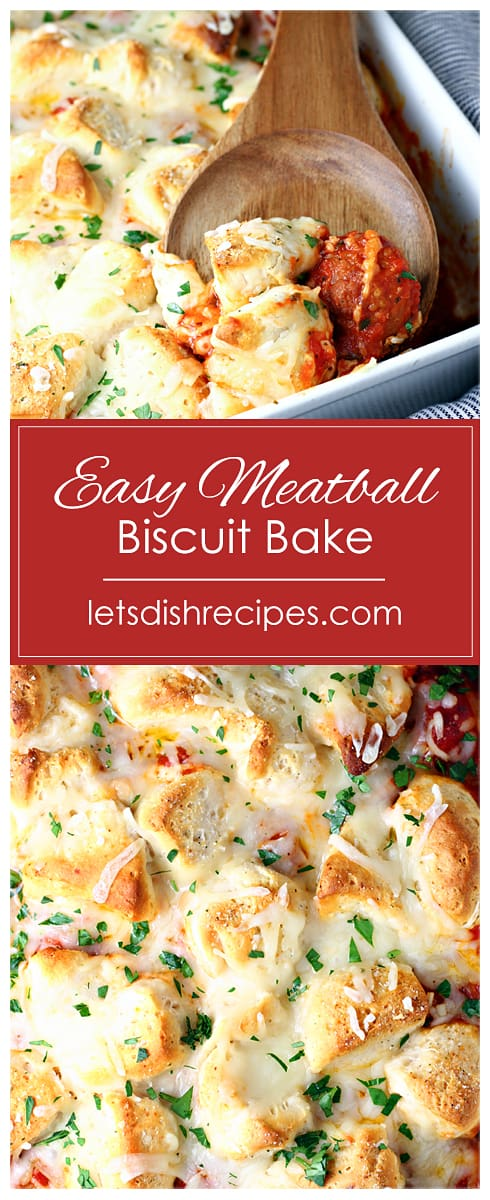 Easy Meatball Biscuit Bake