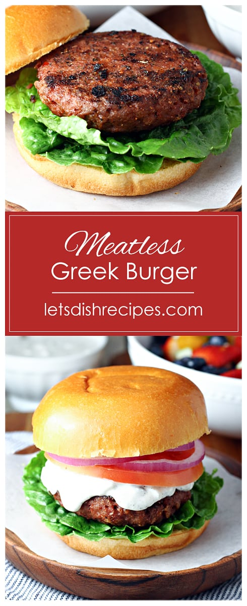 Greek Burger Pin