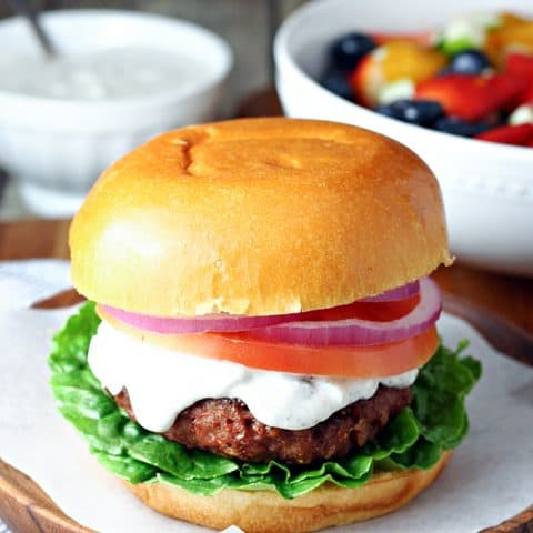 Meatless Greek Burgers
