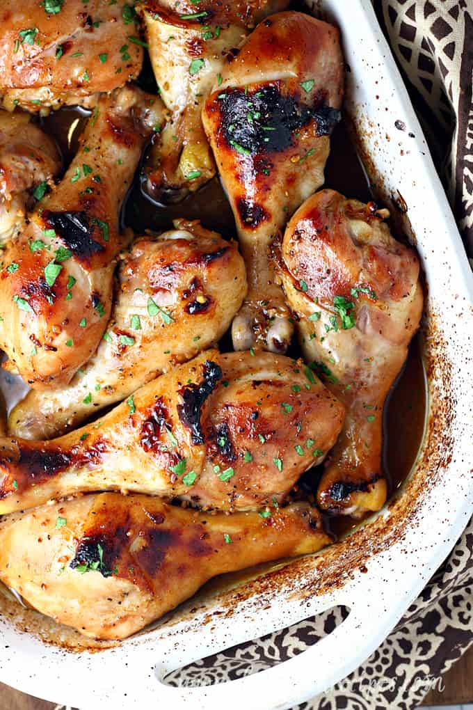 Honey Soy Baked Chicken Drumsticks