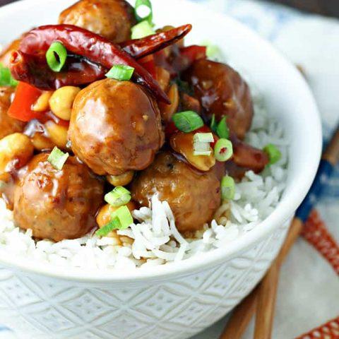 Kung Pao Meatballs