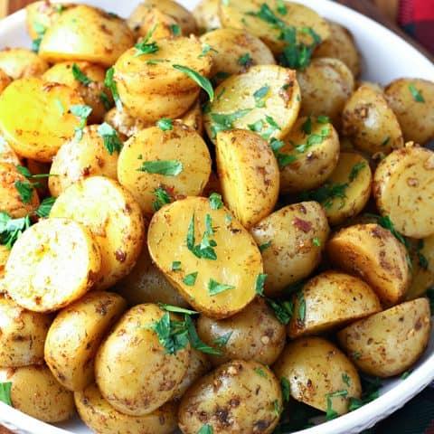 Slow Cooker Greek Potatoes