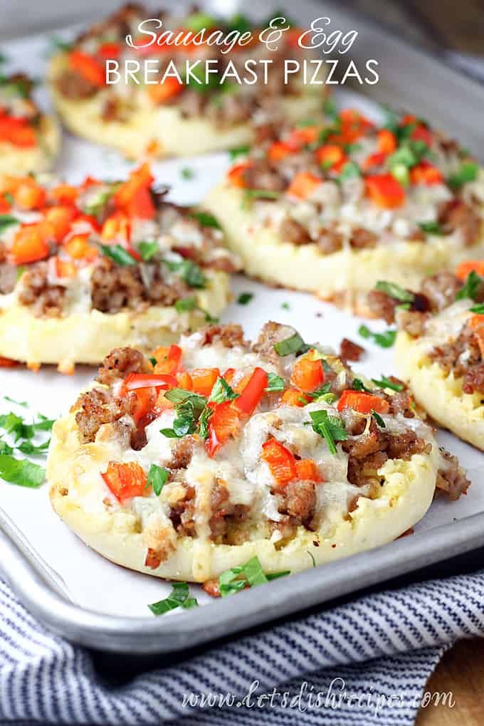 Sausage and Egg Breakfast Pizzas