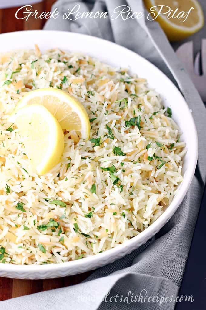 Greek Lemon Rice Pilaf