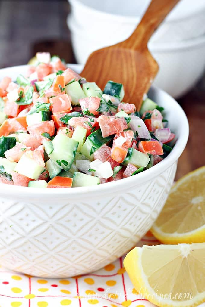 Simple Israeli Salad