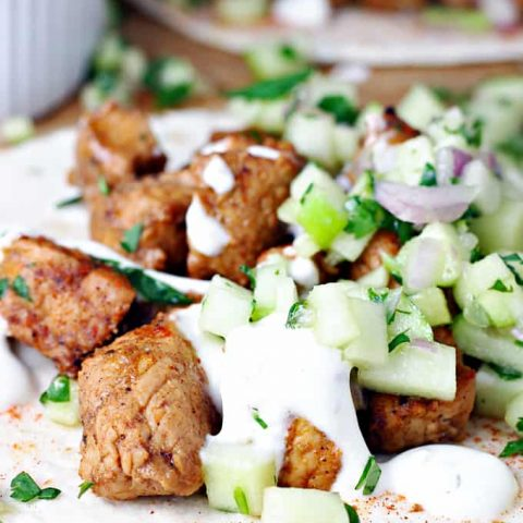 Spicy Pork Tacos with Green Apple Slaw