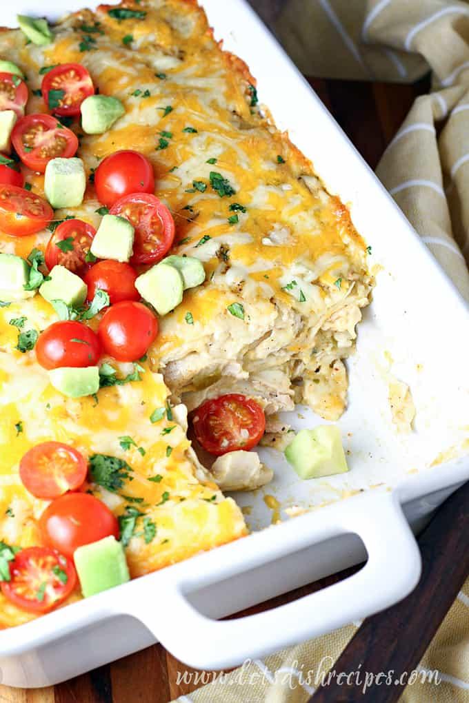 Easy Chicken Enchilada Bake