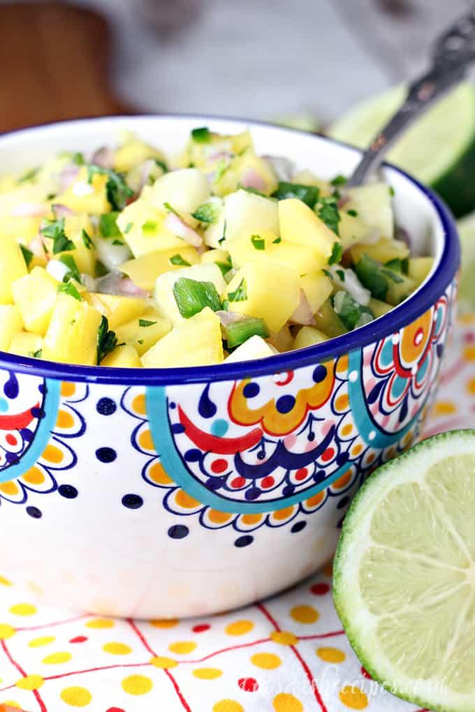 Fresh Mango Pineapple Salsa