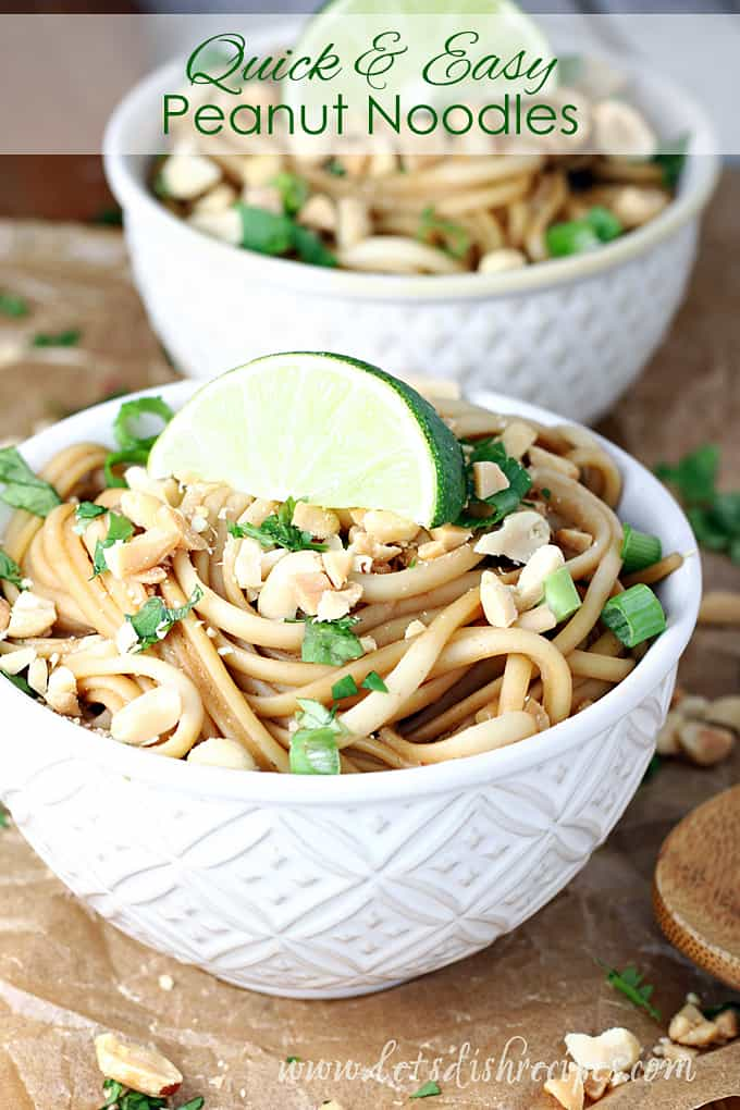 Quick and Easy Peanut Noodles