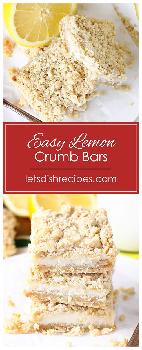 Easy Lemon Crumb Bars