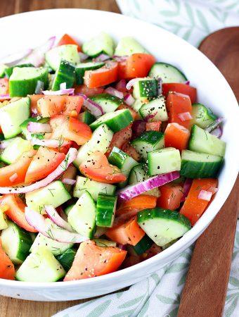 Fresh Tomato Cucumber Salad