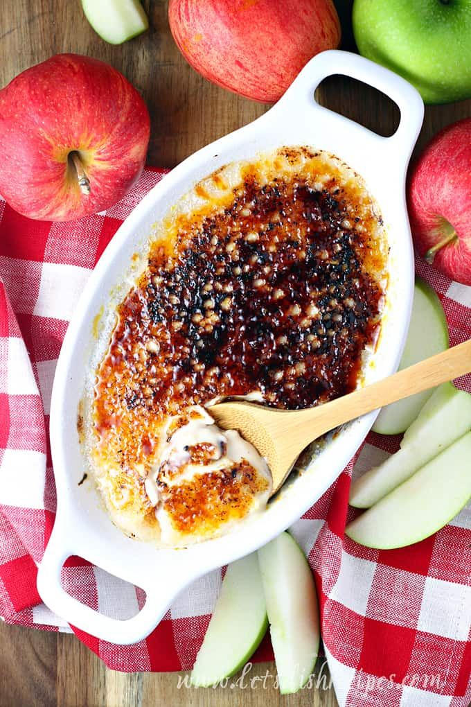 Caramel Apple Dip with Creme Brulee Topping