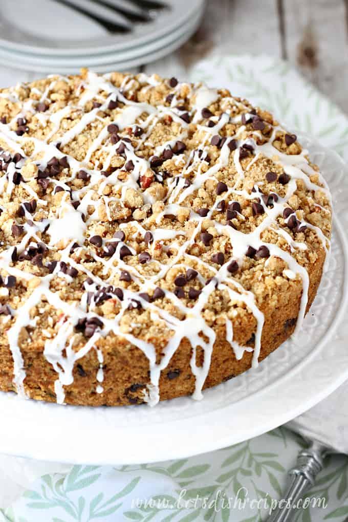 Chocolate Chip Zucchini Crumb Cake