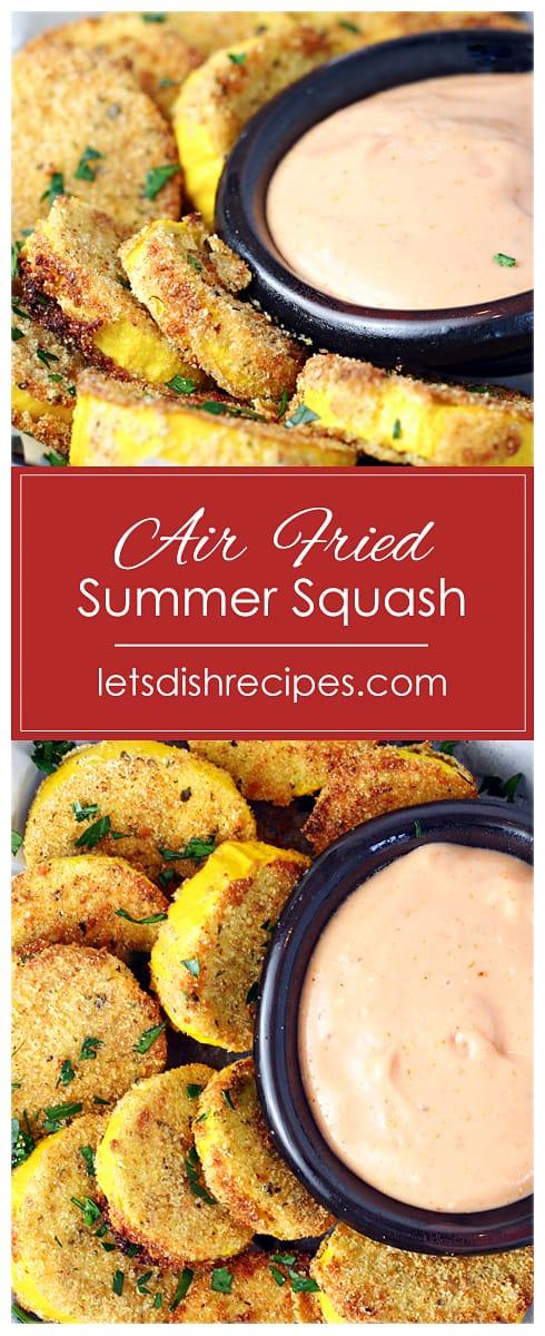Crispy Air Fried Yellow Squash
