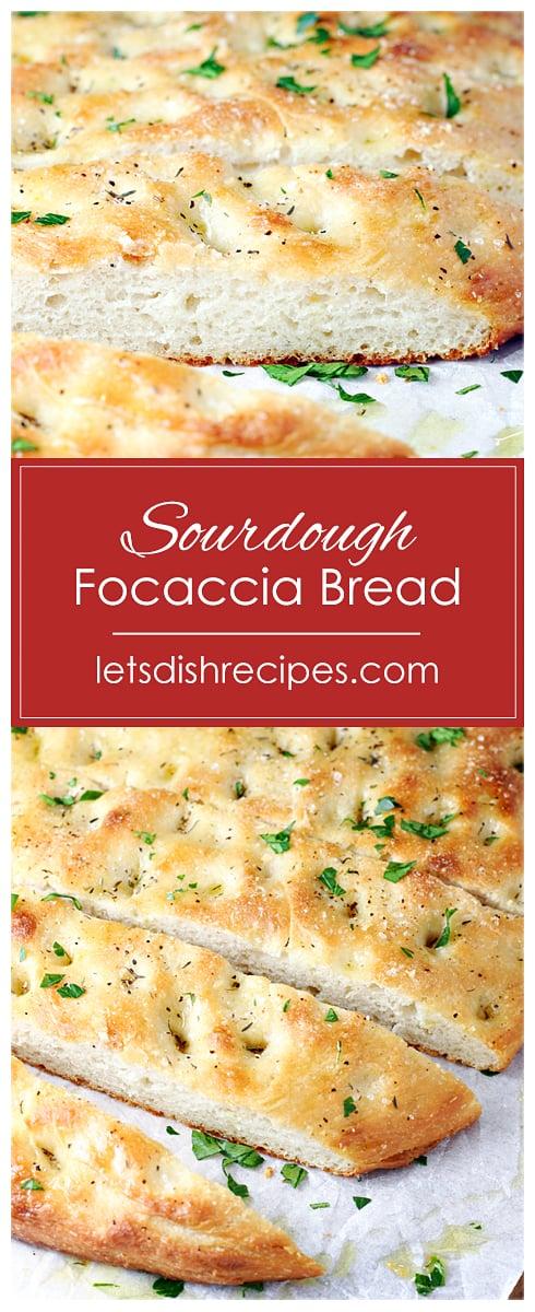 No-Knead Sourdough Focaccia Bread
