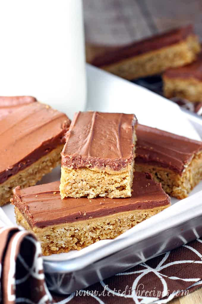 Frosted Peanut Butter Cookie Bars
